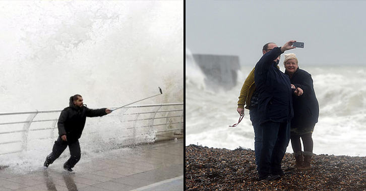 UNILAD storm selfie 9996389993 Authorities Warn UK Public Not To Take Storm Selfies In Bad Weather Tonight