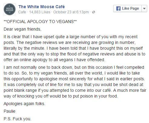 UNILAD vegans 745873 Vegans Kick Off With Restaurant Owner, Shit Escalates Quickly