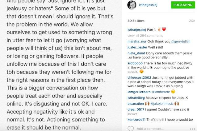 Jessie J Has Addressed Bullying In Three Big Instagram Posts jessietweet3 638x426