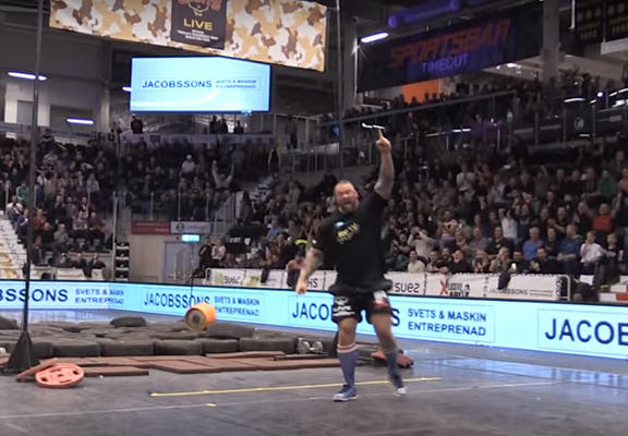 The Mountain From Game Of Thrones Demolishes Keg Toss World Record keg toss WEB