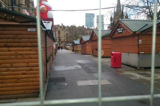 market Threat Of Suspicious Package In Manchester Sees Christmas Market Cordoned Off