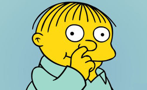 ralph wiggum picking nose Nine Things That Would Happen During The School Nativity