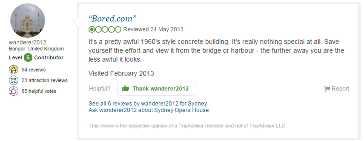 trip advisor review 8 Eight Of The Funniest Trip Advisor Reviews Of Worlds Most Famous Landmarks