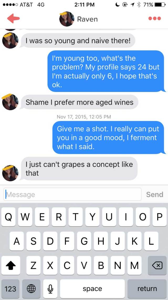 wine4 Lad Joins Tinder As A Chatty Glass Of Wine
