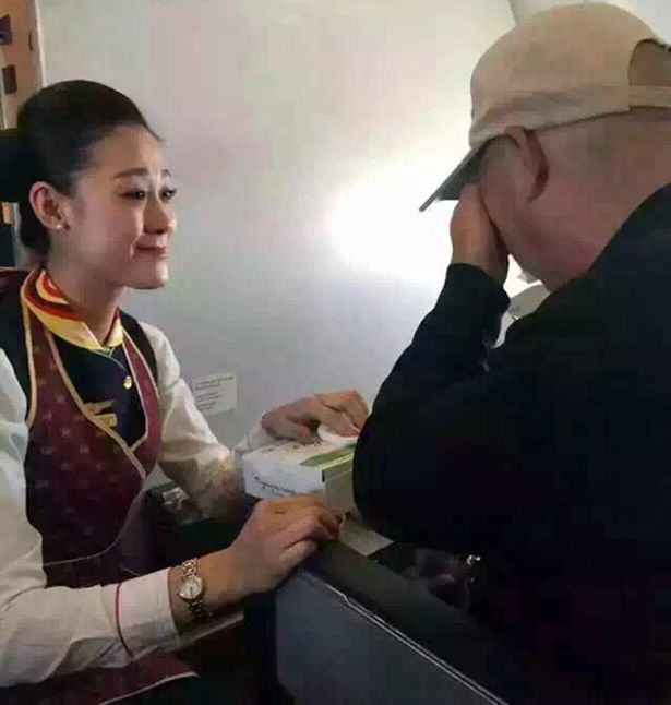 CEN 2 Heartwarming Moment As Air Hostess Act of Kindess Reduces Disabled Man To Tears