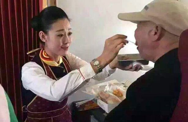 CEN 3 1 Heartwarming Moment As Air Hostess Act of Kindess Reduces Disabled Man To Tears