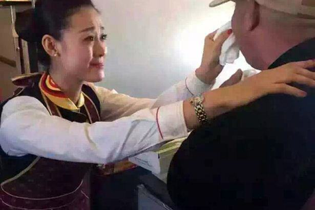 Heartwarming Moment As Air Hostess Act of Kindess Reduces Disabled Man To Tears CEN