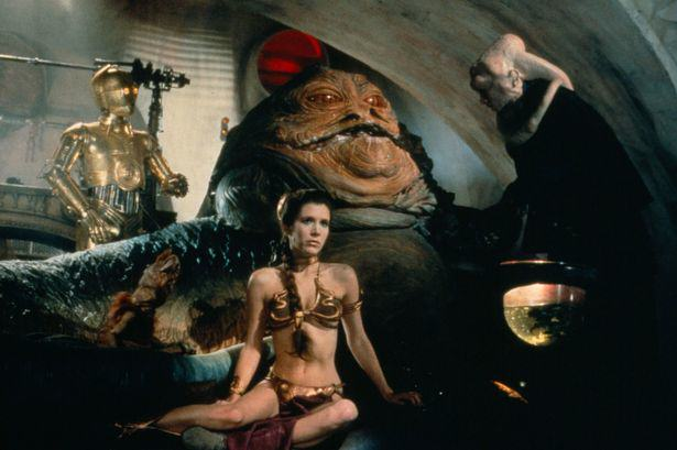 Princess Leia plays captive to Jabba Five Aliens From Star Wars That Basically Exist In Real Life