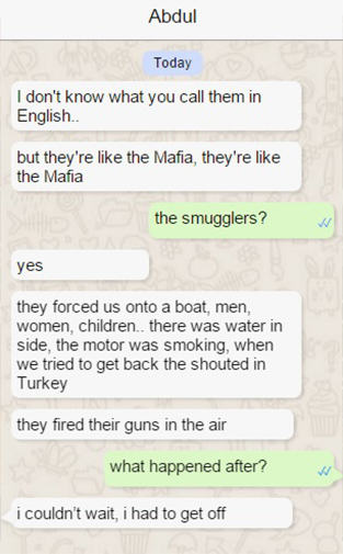 abdul 21 Syrian Refugee Shares His Struggle To Reach Europe In Real Time Via WhatsApp