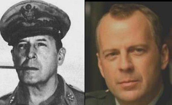 bruce willis greatly resembles wwii general douglas macarthur These Pictures Show Putin Isnt The Only Immortal Famous Guy