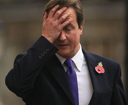 cameron face palm David Cameron Tweets Photo Of Him Watching TV, Internet Reacts Gloriously