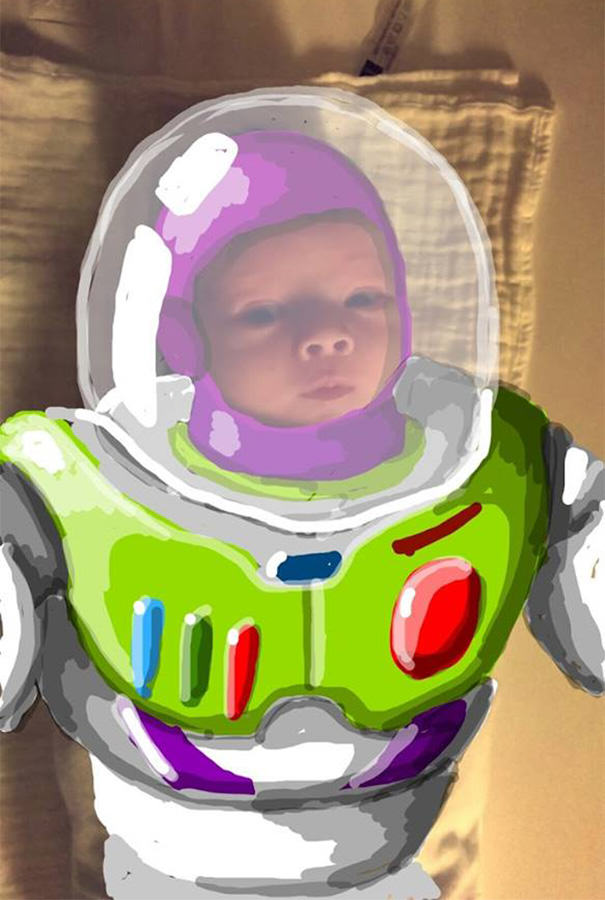 felix9 This Dads Snapchat Drawings On His Kid Are Incredible