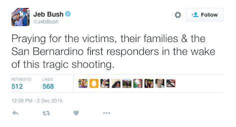 Senator Says Thoughts And Prayers For California Shooting Victims No Good jeb