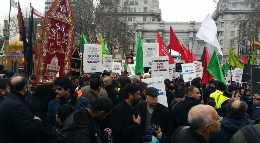 march1 Hundreds Of Muslims Flooded London To Condemn Terrorism, The Media Ignored It