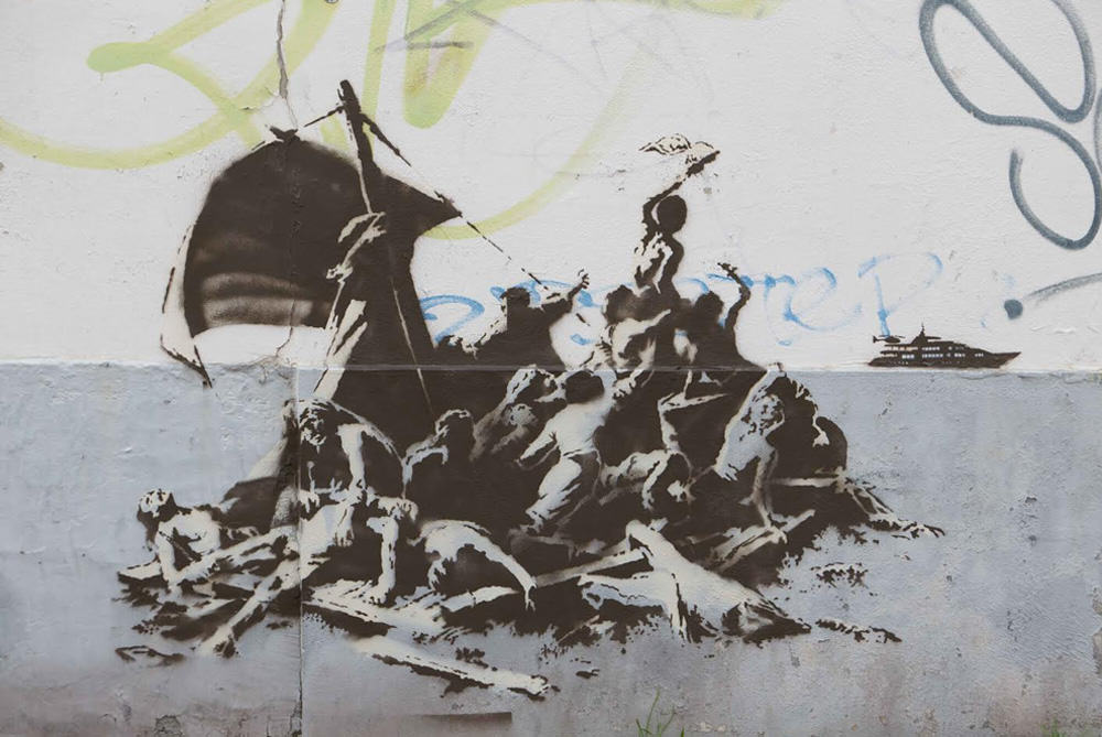 rft 2 3 Why Banksy Painted Portrait Of Steve Jobs At Calais Refugee Jungle