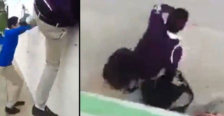 school3 School Kid Jumps Wall To Escape Class, Instantly Regrets Decision