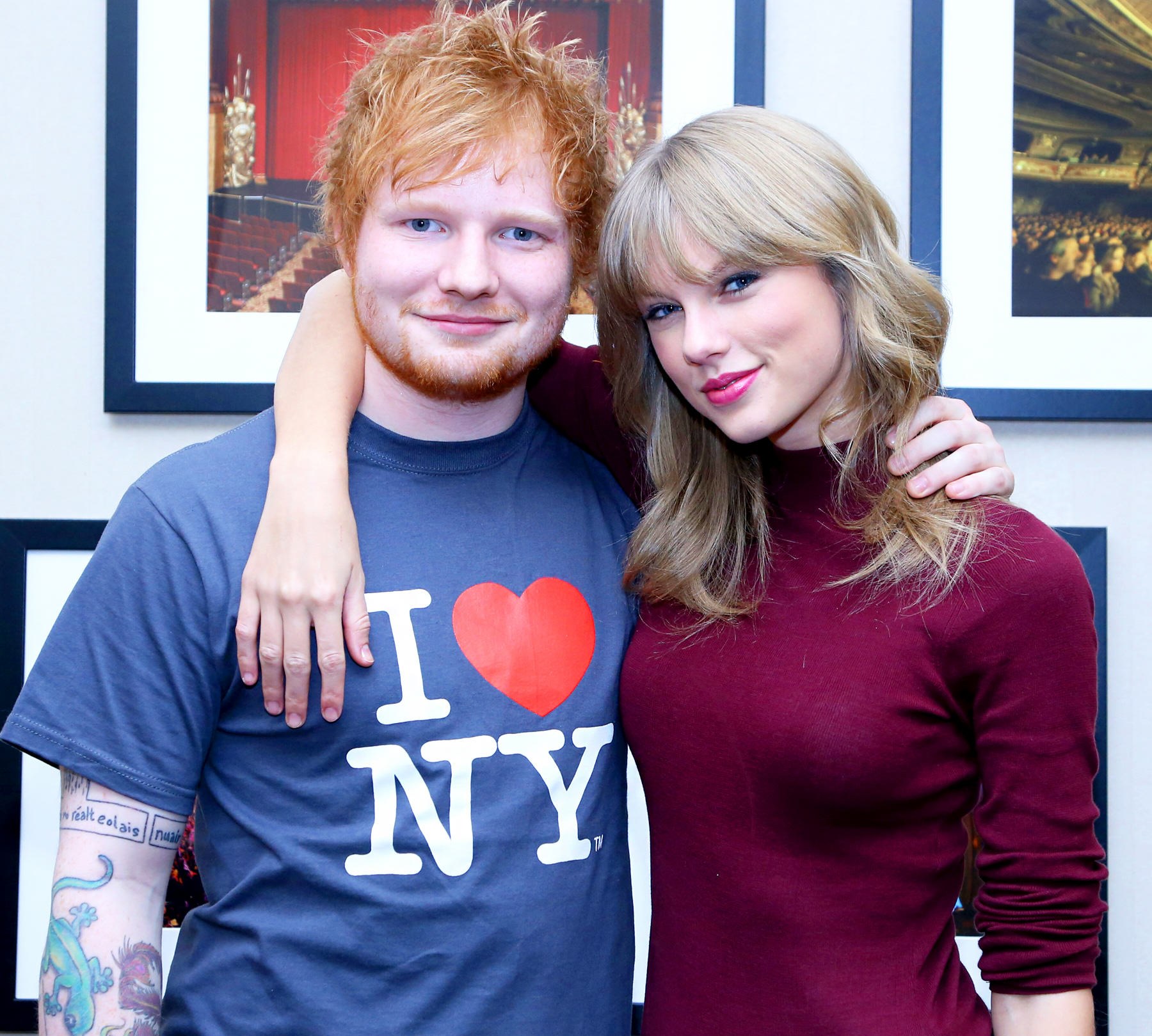 The 10 Most Talked About Topics On Facebook Of 2015 tswift and ed