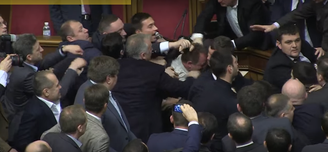 ukraine 5 Politician Picks Up Ukrainian Prime Minister By Balls, Sparks Massive Fight In Parliament