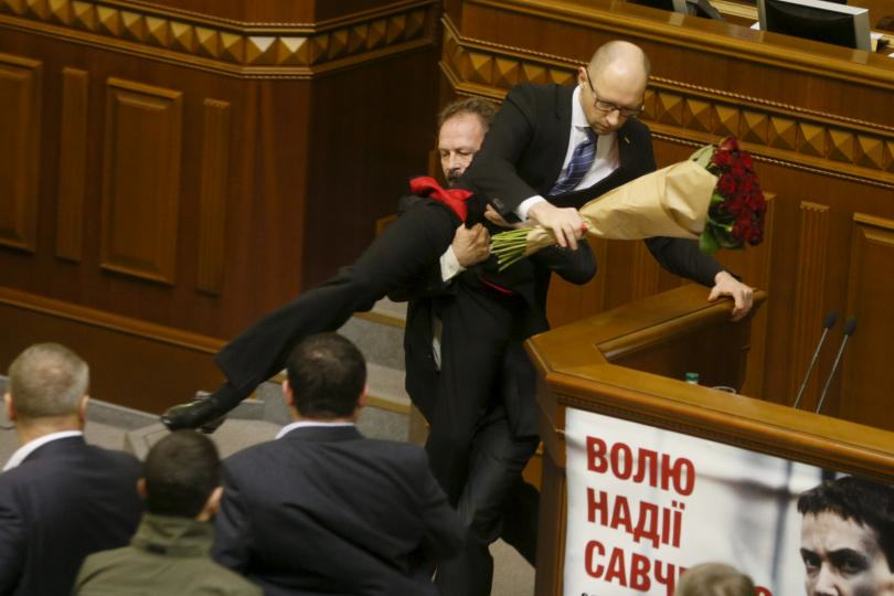 ukraine Politician Picks Up Ukrainian Prime Minister By Balls, Sparks Massive Fight In Parliament