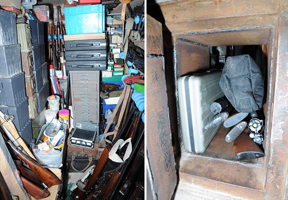 weapons haul WEB Largest Ever Collection Of Illegal Weapons Found In UK Mans Hidden Room