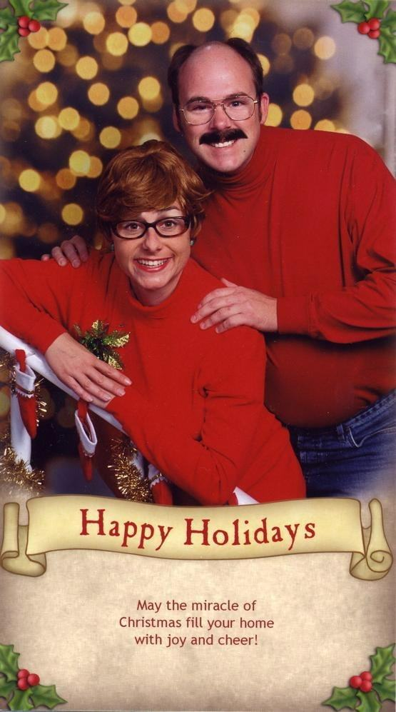 Family Win Christmas By Sending Hilariously Awkward Cards xmas cards7