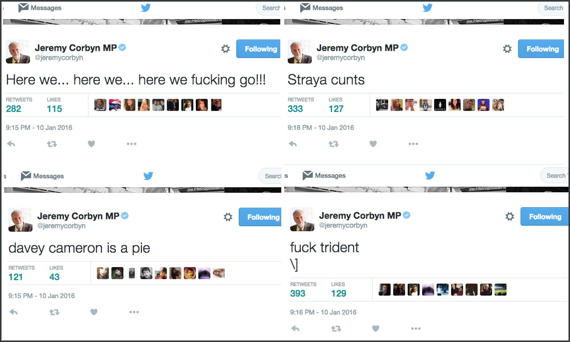 Jeremy Corbyns Twitter Was Hacked And It Was hilarious 1141