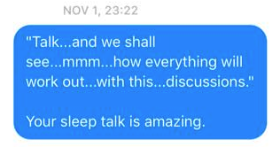 Wife Sends Hilarious Messages To Husband Quoting His Sleep Talk Screen Shot 2016 01 05 at 20.27.53