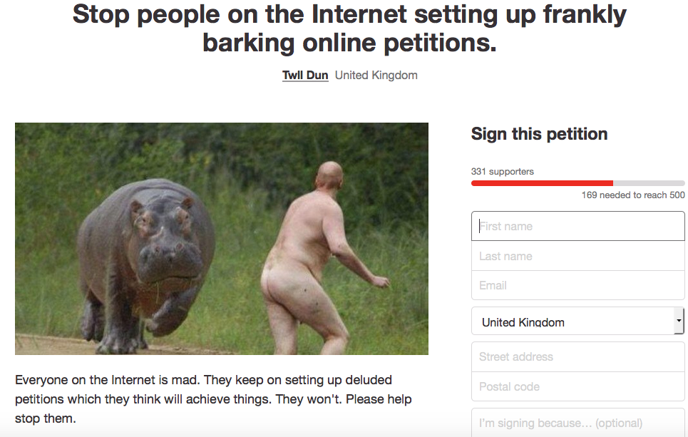 Screen Shot 2016 01 10 at 14.16.39 Lad Creates Possibly The Most Logical Online Petition Ever