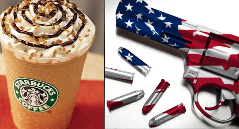 Its Easier To Buy A Gun Than A Frappuccino In The US frap fb