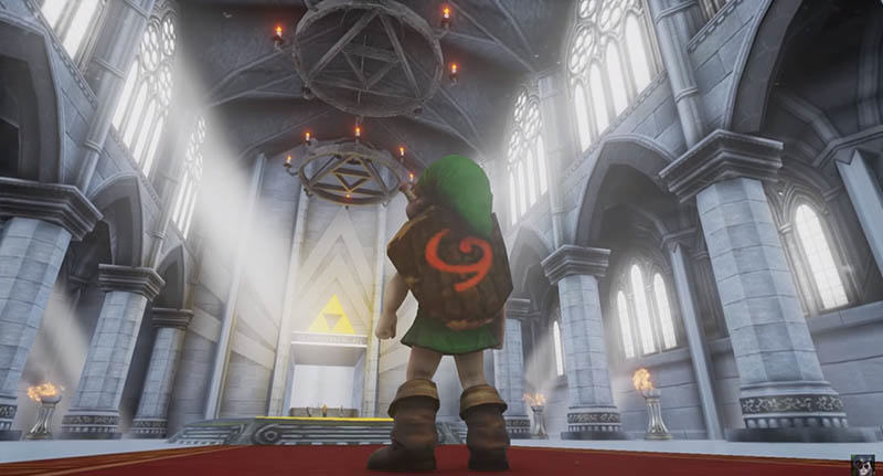 linksfacebook Ocarina Of Times Temple Of Time Stunningly Recreated In Unreal Engine 4