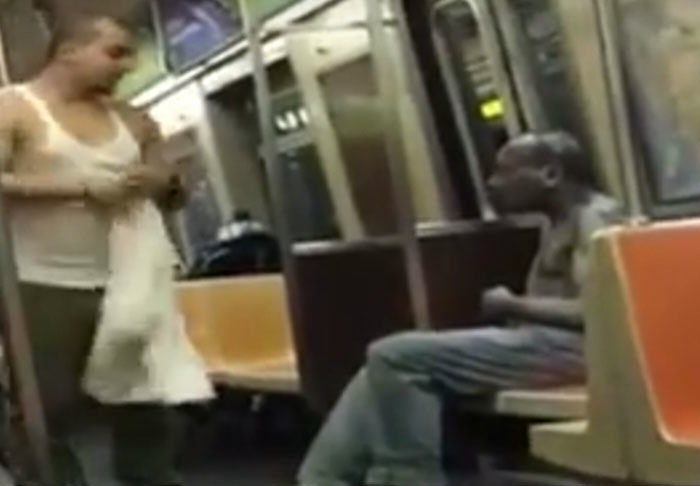 Stranger On New York Subway Makes Incredible Gesture To Homeless Man nyc1 1