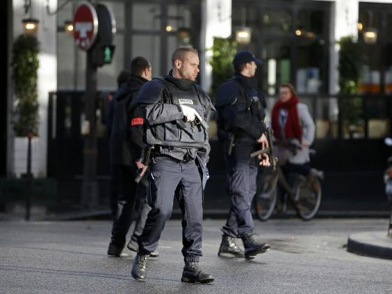 paris REUT Knife Wielding Man Wearing Suicide Belt Shot Dead Outside Paris Police Station