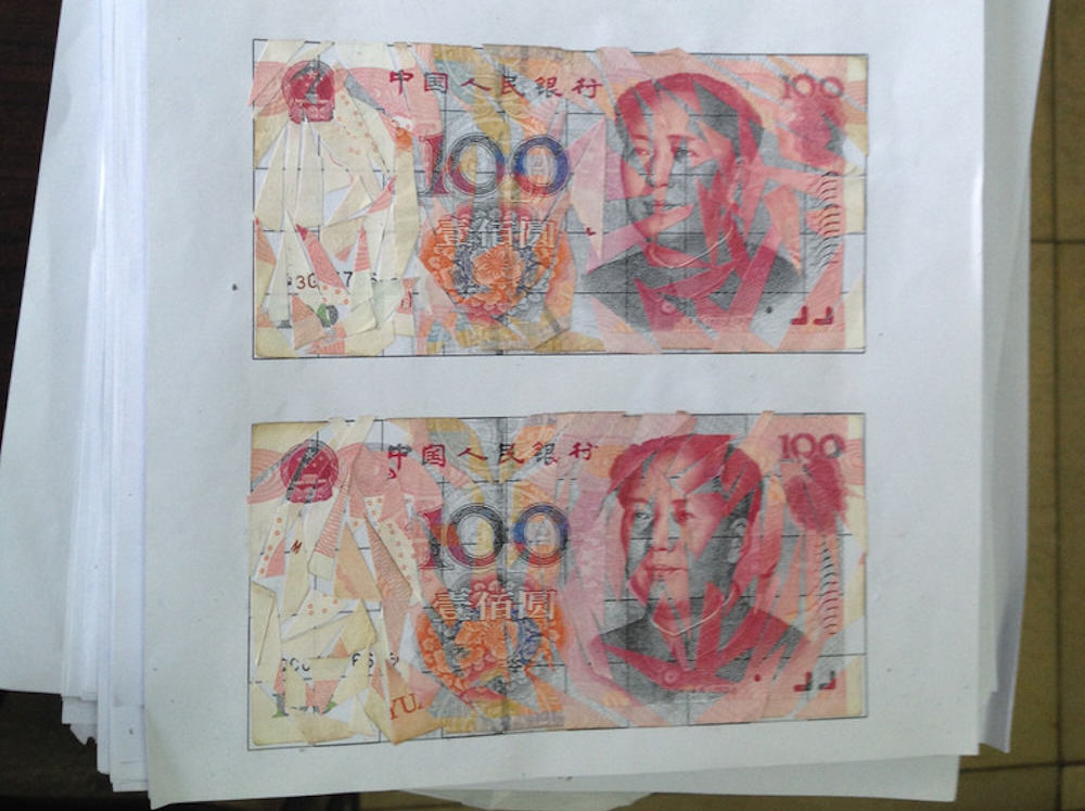 shredded yuan2 Couple Go To Extreme Lengths To Piece Together Shredded Banknotes