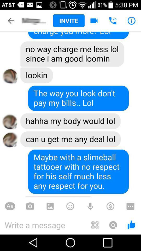 tattoo6 Girl Offers Sex In Exchange For Tattoo, Gets Shut Down In Best Way