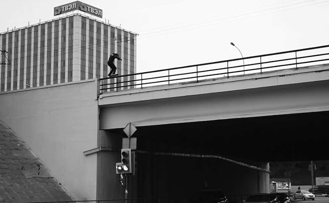 2 1 Skateboarder Posts Video Of Death Defying Grinds On Edge Of Buildings