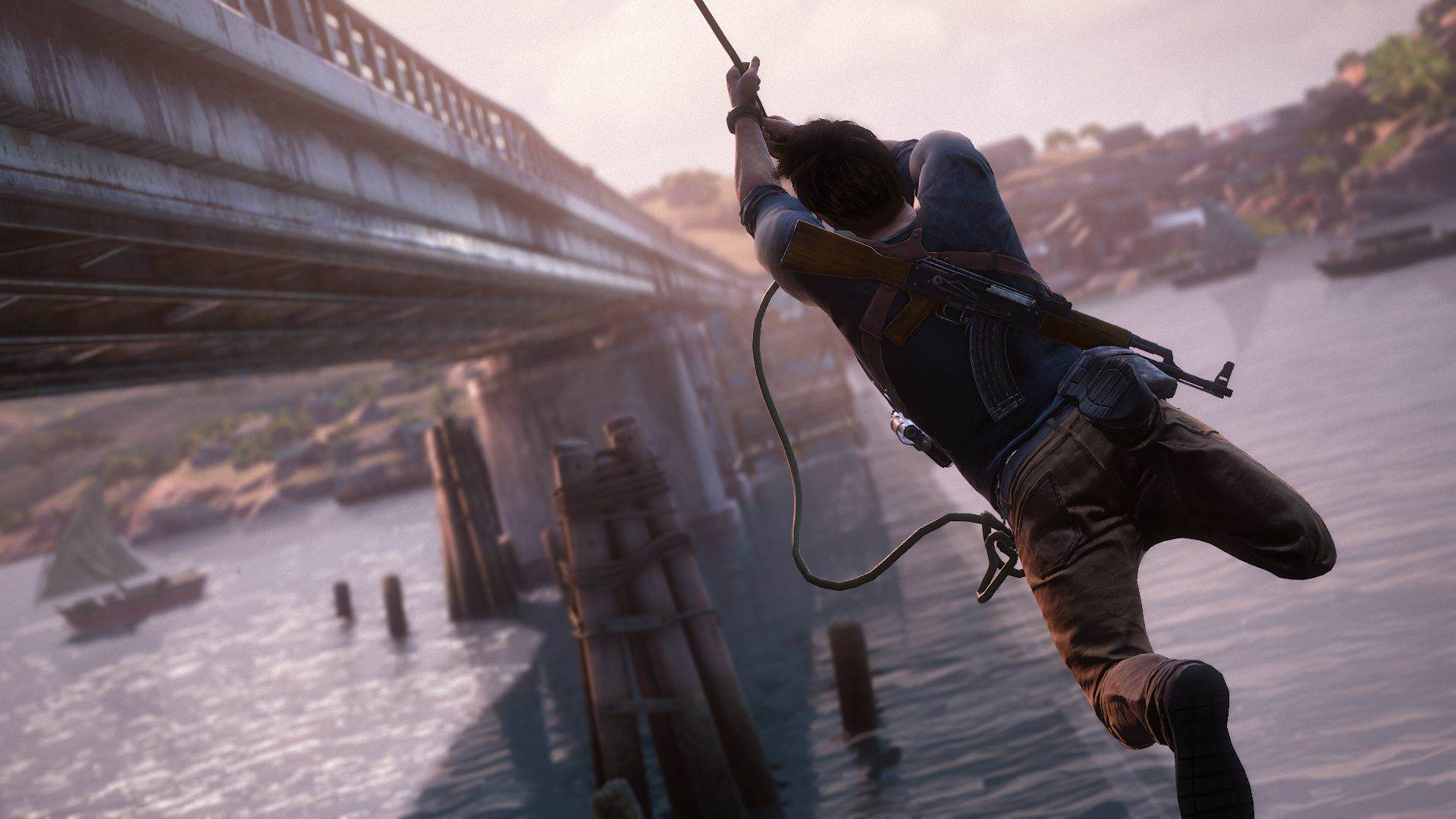 2759115 uncharted 4 drake rope bridge 1434429051 Uncharted 4s Story Changed 100% After New Directors Joined