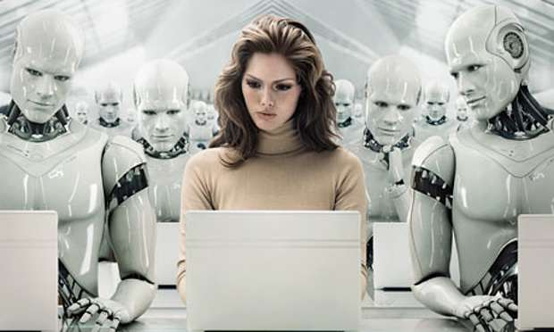 Businesswoman surrounded 007 1 Humans Will Probably Be Dating Robots Soon