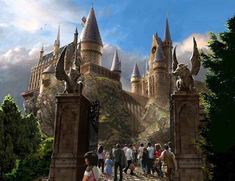 Hogwarts Exterior LR First Look At The Wizarding World Of Harry Potter At Universal Studios