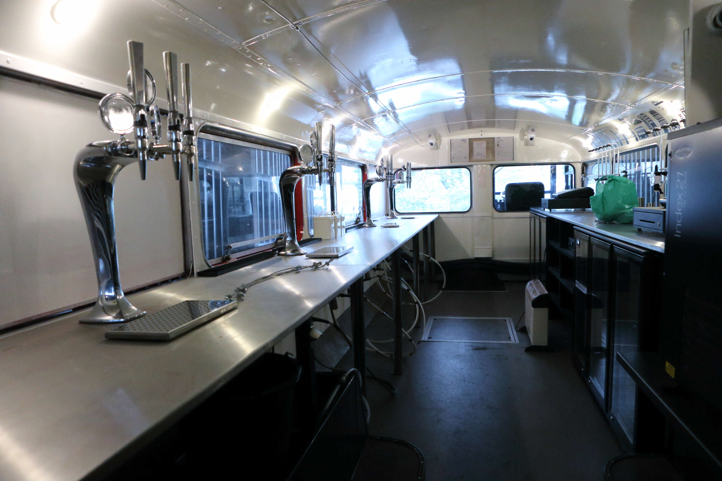 Guy Turns Bus Into Movable Pub And It Looks Incredible SWNS PARTY BUS 14