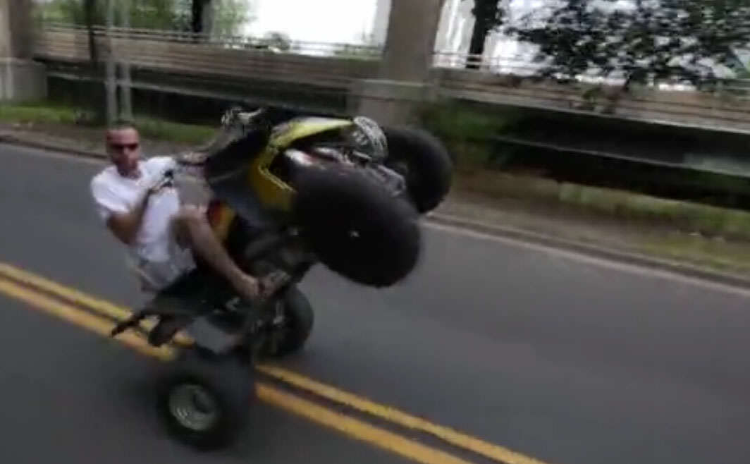 Untitled 1 1 Brutal Footage Shows Guy On Quad Wheelie Into Traffic And Get Taken Out