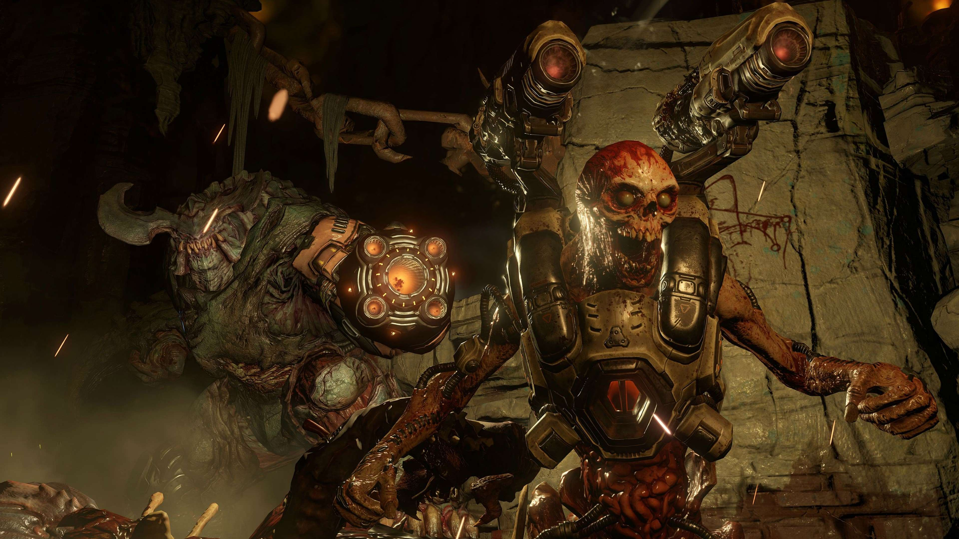 doom game 2016 4k demon picture 3840x2160 The New DOOM Campaign Trailer Just Dropped And Its Brutal As Hell