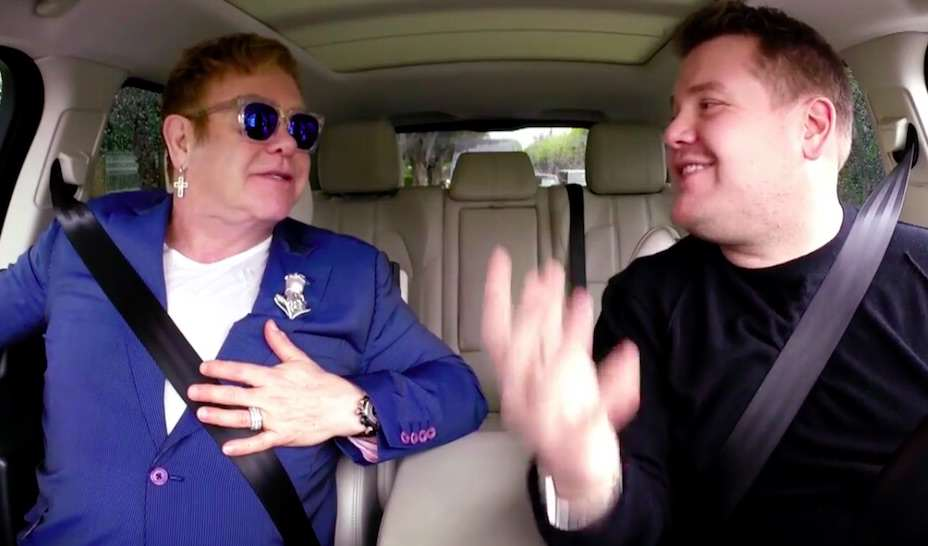 elton3 Elton John And James Corden On Carpool Karaoke Is Just Brilliant