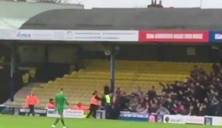 English Football Fan Decides To Start A Fight With The Entire Away End fan2