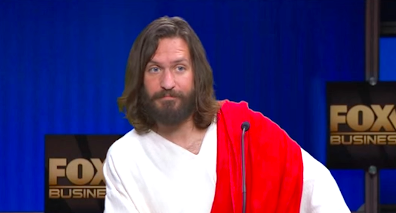 kimmel jesus 1 Jesus Reads Out Quotes From Republican Presidential Candidates On Jimmy Kimmel Show