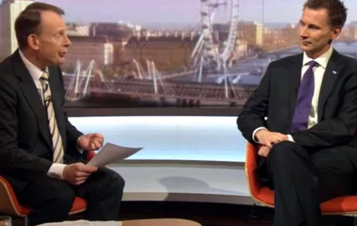marr Jeremy Hunt Squirms On Live TV Under Pressure From Junior Doctors
