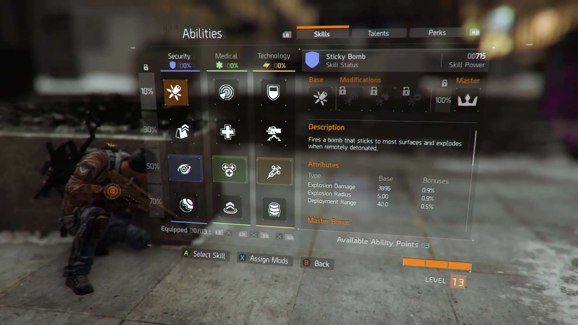 q a november skills menu Handy New Trailer For The Division Explains The Games Skill System
