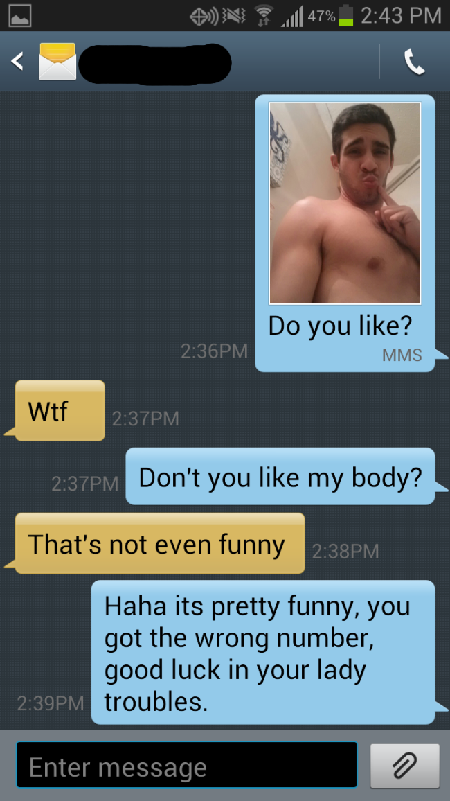 thirst dude 8 Guy Texts Wrong Number, Gets Trolled Hard, Still Really Wants Nudes