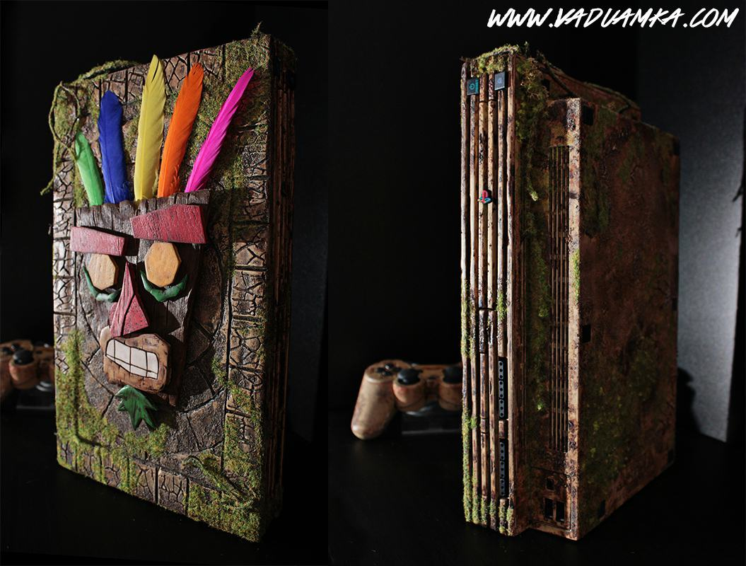 109456443 o This Customised Crash Bandicoot PS2 Is A Thing Of Beauty