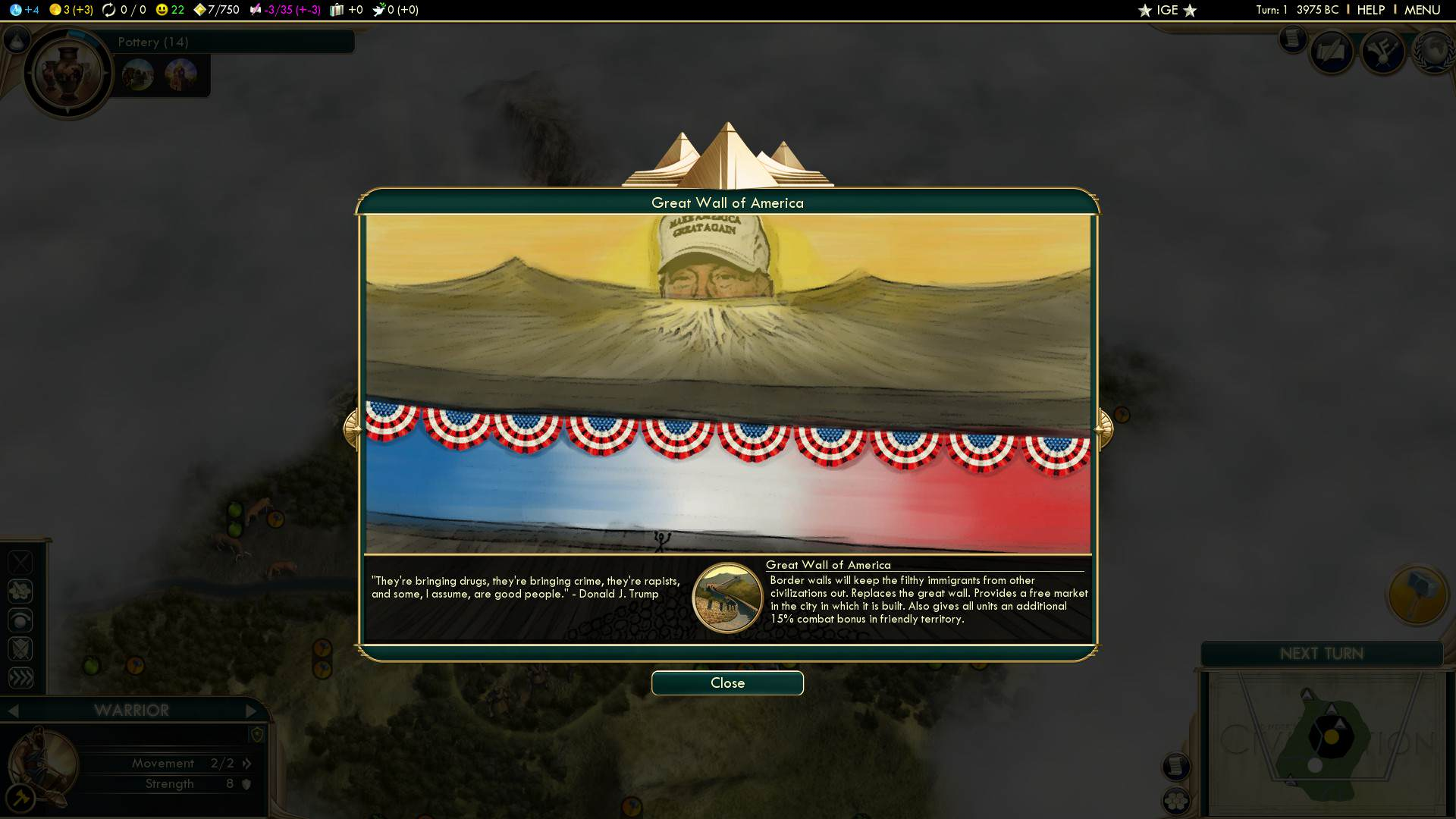 503018107 preview 2015 09 26 00001 This Donald Trump Mod For Civilization V Is Absolutely Perfect