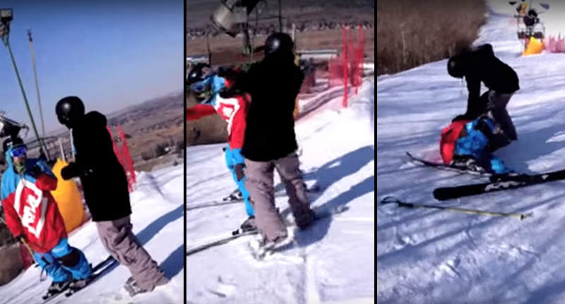 FaceThumb Recovered 7 This Bizarre Rich Kid Fight On A Ski Slope Is Just Confusing